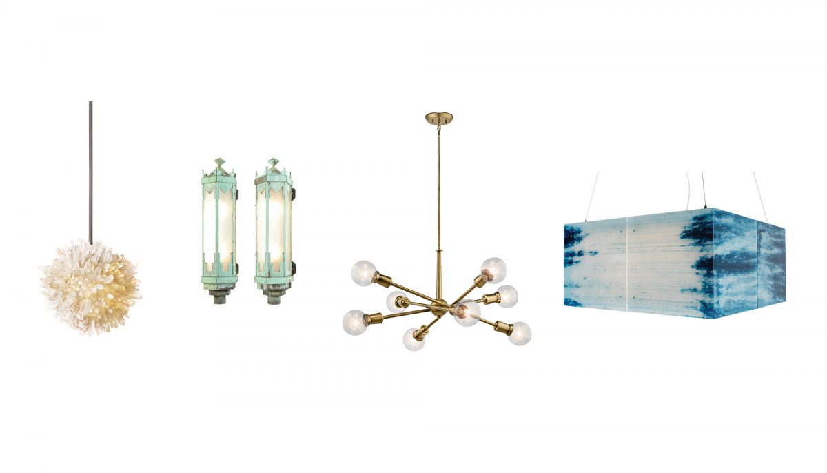 Photograph by RH Gallery (pendant); Rejuvenation (sconces); Ferguson showroom (chandelier); Lightart (box light smith);  sc 1 st  Seattle Magazine & 6 Local Lighting Fixtures to Brighten Cloudy Seattle Days | Seattle ...