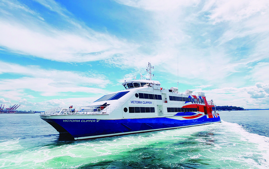 The all-new Victoria Clipper V can make the journey from Seattle to Victoria in just under three hours