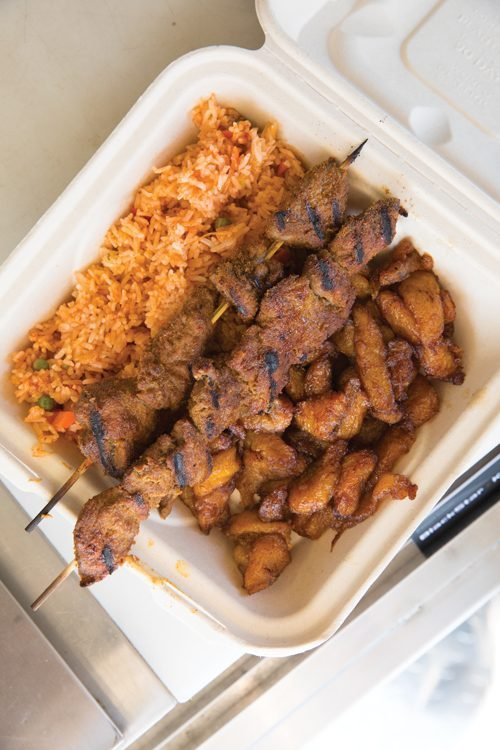 Kick it with Kebabs from Seattle's only Ghanaian food truck