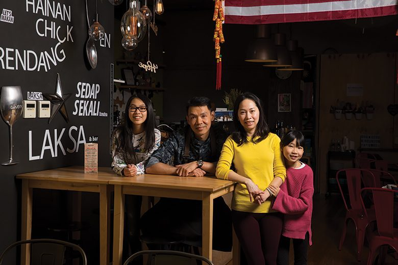 Owners of Reunion Malaysian Cafe and Kitchen in Kirkland, Washington