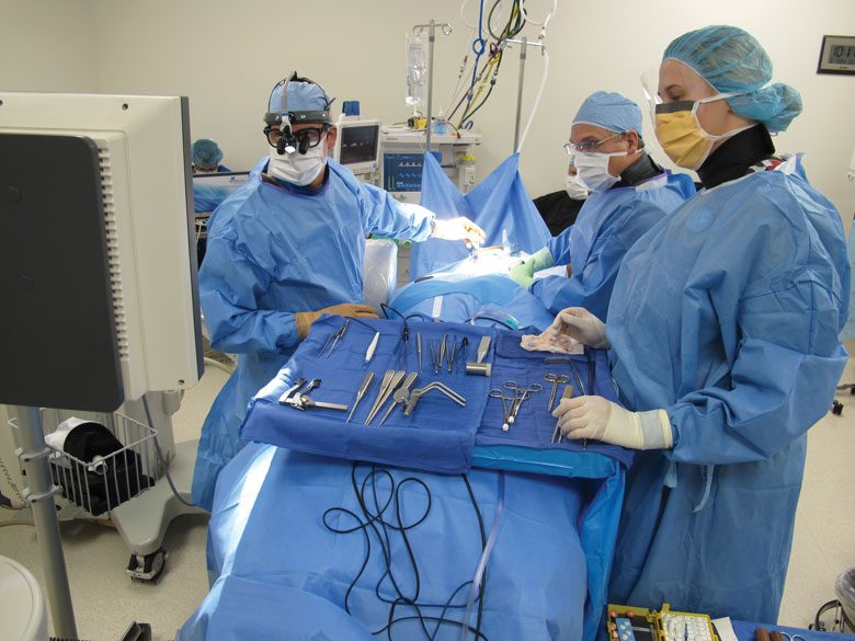 Board-certified surgeons at work at Northwest Spine Center