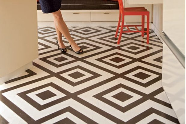 Cost Effective Flooring leah steen's cost-effective solution for floors with flair