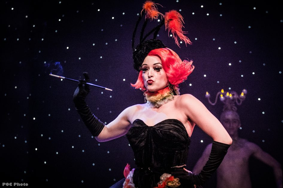 Lily Verlaine as the Caterpillar in 'The Burlesque Alice In Wonderland'