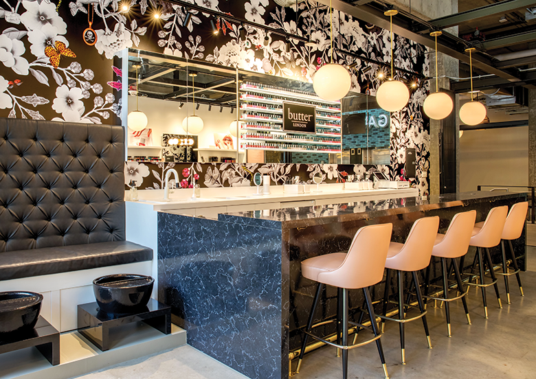 This New High End Nail Salon Looks More Like A Fancy Cocktail Bar