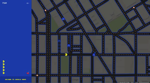 Google Maps Makes Navigating City Streets Fun with Pac-Man | Seattle ...
