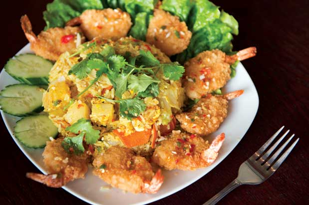 07cbe704650a Shrimp fried rice with yellow curry powder