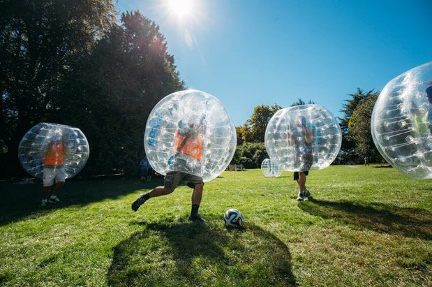 Bubble soccer at Volunteer Park