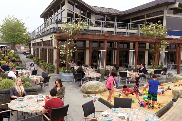 The Casual Café And Nearby Sandpit At Anthonyu0027s HomePort Edmonds And Beach  Café