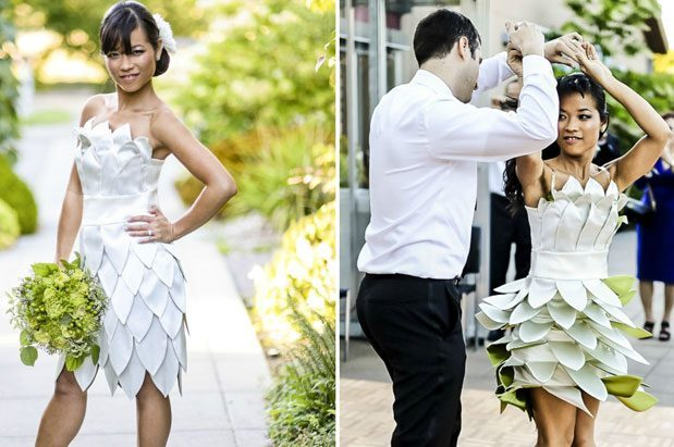 Amazing: Bride Makes Her Own Dress on the Bus | Seattle Magazine