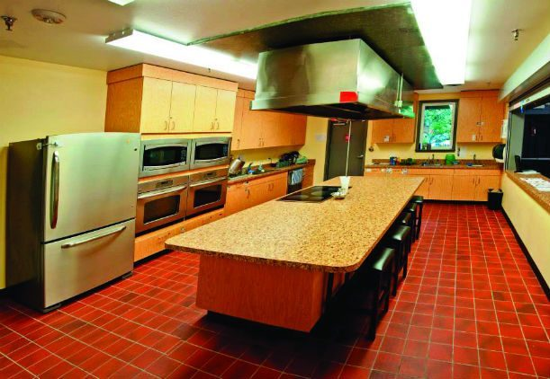The kitchen at the Alyssa Burnett Adult Life Center