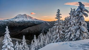 Mount Rainier in the wintertime