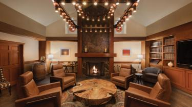 Interior of Salish Lodge in the Snoqualmie Falls area