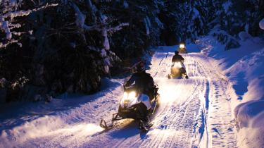 Going snowmobiling in Plain, Washington