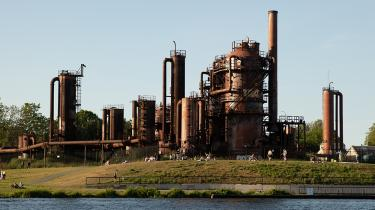 The Gas Works plant at Seattle's Gas Works Park