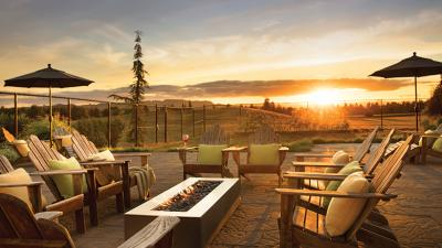 The Allison Inn resort, near Newberg, Oregon, offers a tranquil setting for relaxing amid the Willamette's wine country