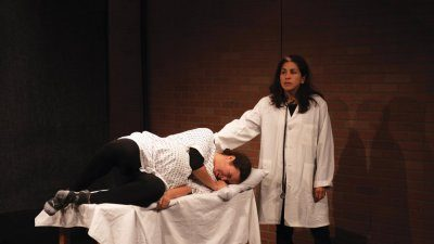 "From left, actors Monica Domina and Cristina Key in ""Untold 2 Actors,""  a ""Grief Dialogues"" performance directed by Rachel Delmar."
