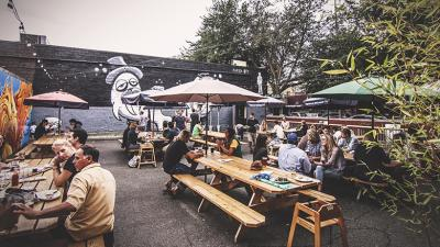 Greenwood's Naked City patio beer garden