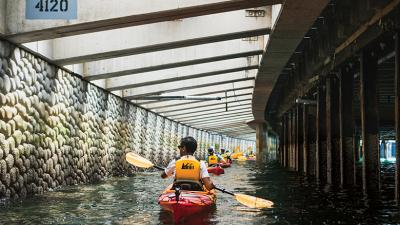 Seattle Waterfront seawall kayak tours