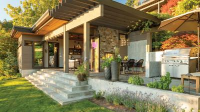 Backyard Goals: Check Out This Bellevue Lakefront Cabana