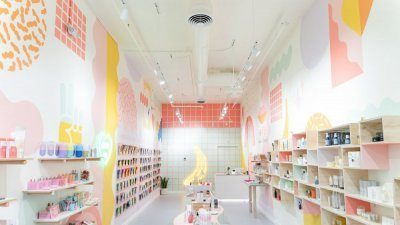 Interior photo of Korean beauty retailer K Banana